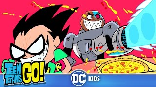 #StayHome Teen Titans Go! | Food Fight | DC Kids