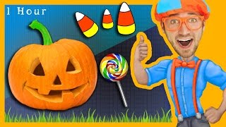 1 Hour of Nursery Rhymes Compilation with Blippi   Halloween Songs for Kids and More