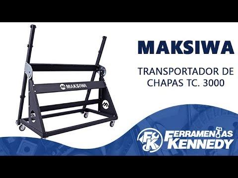 Transportador de Chapas com Regulagem TC.3000 Maksiwa - Vídeo explicativo