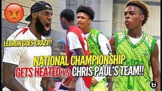 LeBron James Coaches Bronny Jr to Championship vs Chris Paul's Team in HEATED OT BATTLE!