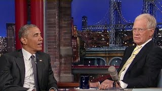 Obama talks race relations, retirement with David Letterman