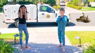 There's A RATTLE SNAKE In Our House (Animal Control called) | Familia Diamond