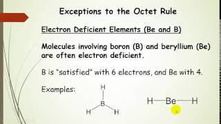 Exceptions to the Octet Rule plus examples