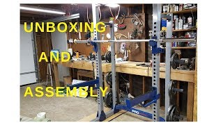 Fitness Gear Pro Half Squat Rack Unboxing And Assembly