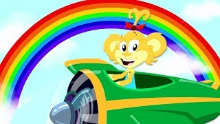 Rainbow Colors Song | Monkey Rhymes For Children | Kindergarten Cartoons - Kids Baby Club