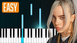 "Billie Eilish - ""lovely"" (with Khalid) 100% EASY PIANO TUTORIAL"