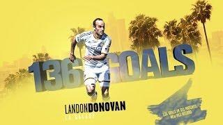 GOAL RECORD: All of Landon Donovan's 136 MLS regular season goals