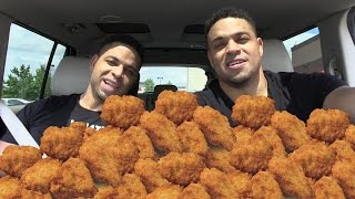 80 Chicken Nugget Eating Challenge| Eat Off Challenge| @hodgetwins