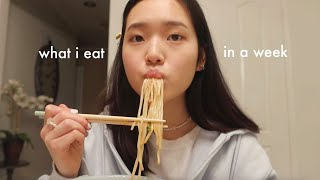 what i eat in a week pt 9 (spring break edition + korean food)
