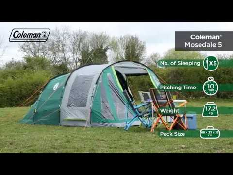 video Coleman Mosedale 5 Tent Review