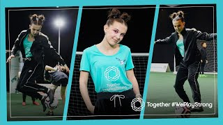 MILLIE BOBBY BROWN surprises ⚽ girls & joins #WePlayStrong squad