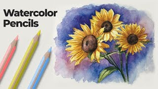 How to Use Watercolor Pencils - Techniques and Demonstration
