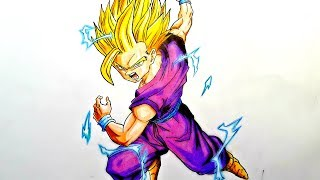 Drawing Gohan Super Saiyan 2 - Dragon Ball Z