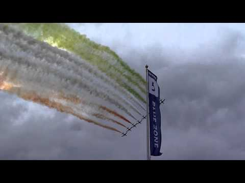 Il Frecce Tricolori flypast at Fairford 2011
