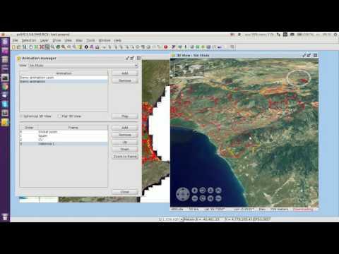 gvSIG Desktop. 3D View: Animation