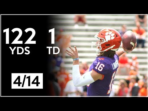 Trevor Lawrence Clemson Spring Game Highlights | 122 Yards, 1 TD | 4.14.18