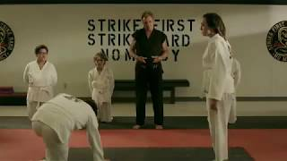 Cobra Kai Season 2 - John Kreese Teaching Cobra Kai To Show No Mercy