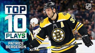 Top 10 Patrice Bergeron plays from 2018-19