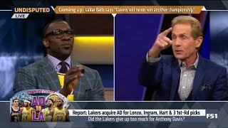 UNDISPUTED   Skip & Shannon DEBATE: Did Rob Pelinka give up too much for Anthony Davis to Lakers?