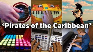 Who Played It Better: He's a Pirate (Launchpad, Violin, Piano, Guitar, Calculator, Cat Piano)