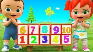 Learning Numbers and Colors for Children with Little Baby Boy & Girl Fun Play Number Boxes 3D Kids