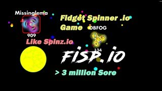 Fisp.io - Like Spinz.io Fidget Spinner game more than 3 million score | Спиннер ио игра