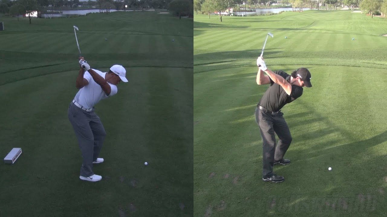 Golf Swing 2013 Tiger Woods Low Light Vs Rory Mcilroy