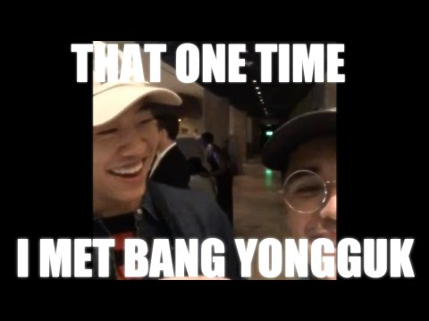THAT ONE TIME I MET BANG YONGGUK