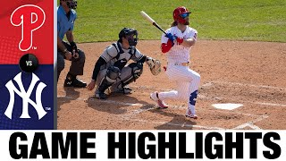 Bryce Harper leads Phillies to 11-7 win | Phillies-Yankess Game Highlights 8/5/20