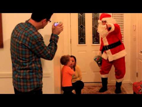 Santa Claus visits Ollie - 2012