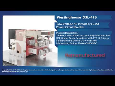Westinghouse DSL-416 Low Voltage AC Fused Power Circuit Breaker