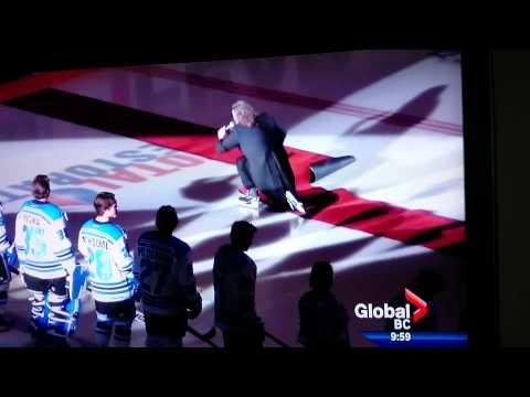 Mark Donnelly O Canada Anthem Skating fail