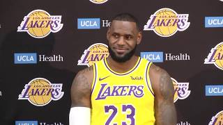 [FULL] LeBron James' first press conference with Los Angeles Lakers   NBA Media Day   ESPN