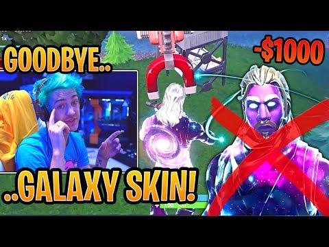 Ninja Spectates RICHEST Hacker Using the Galaxy Skin! - Fortnite Best and Funny Moments