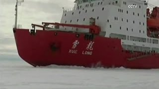 Antarctica Chinese icebreaker stuck