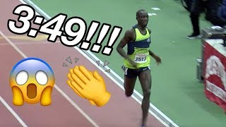 Crowd Goes Insane For Cheserek's 3:49 Indoor Mile!