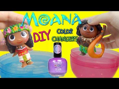 DISNEY MOANA MOVIE 2016 Color Changing NAIL POLISH DIY Toys VAIANA