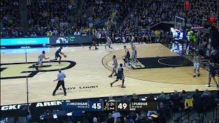 Big Ten Basketball Highlights: Michigan at Purdue