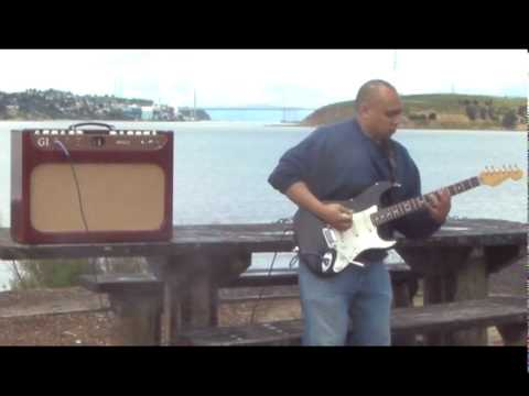 Keith Madrid plays the G1 along the Carquinez Strait in Northern California