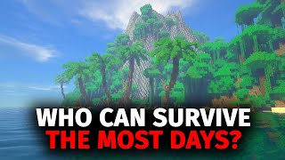 Whoever Can Survive The Most Days On A Deserted Island In Minecraft Wins