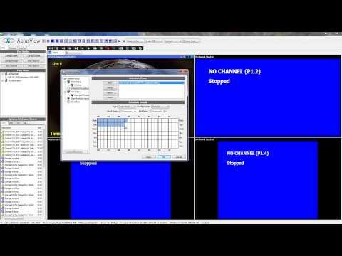 Configure recording function - scheduled recording