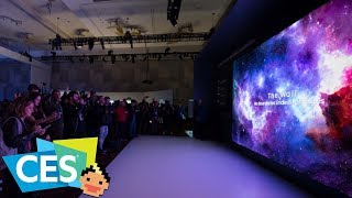 Samsung's The Wall MicroLED, QLED 8K TV & Samsung Bots - CES 2019