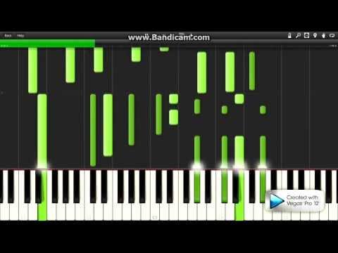 Баста - Кинолента (как играть на пианино) + MIDI