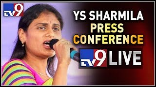 YS Sharmila Press Conference LIVE..