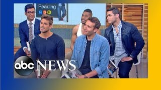 The Men of 'Hot Dudes Reading' Visit 'GMA'!