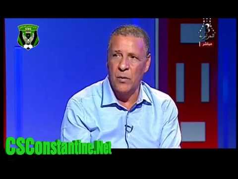 Abdelkader Amrani Fustige l'arbitre Sekhraoui