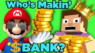 Mario vs Minecraft! Who is Gaming's RICHEST?   The SCIENCE of... Video Game Millionaires