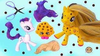 DIY Custom Shopkins My Little Pony ! MLP New Hair Root Craft Video