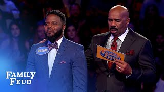 Sharde racks up 155 points! Will Marlon seal the deal?   Family Feud
