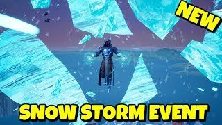 New CLOSE-UP SNOW STORM Live Event Gameplay in Fortnite